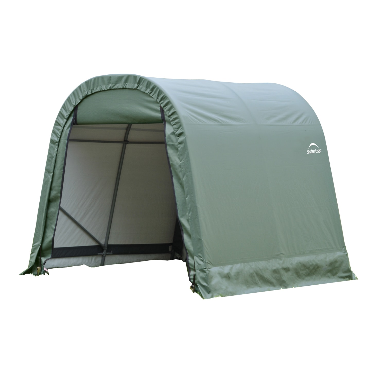 Shelterlogic 8' x 12' x 8'' Round Style Shelter, Green by ShelterLogic