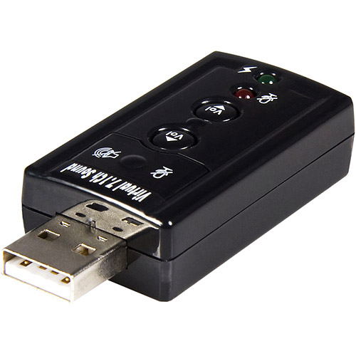 Startech Virtual 7.1 USB Stereo Audio Adapter External Sound Card, ICUSBAUDIO7