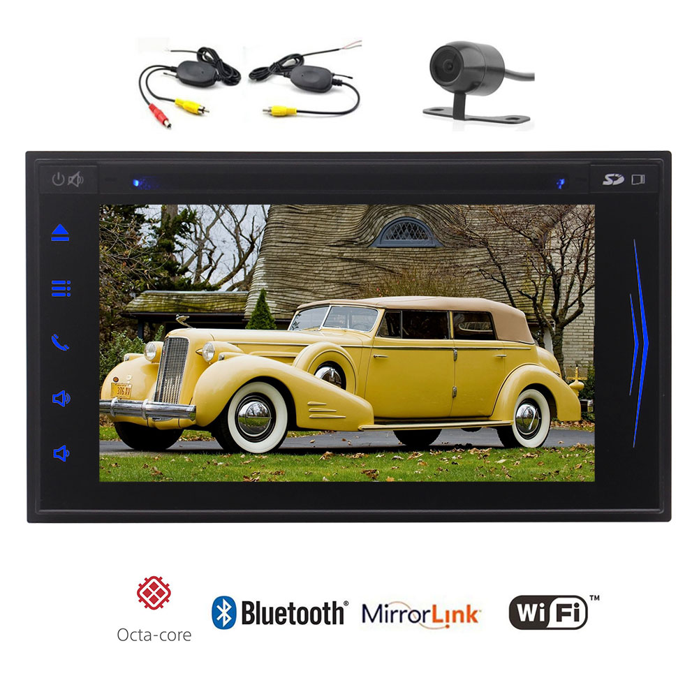 EinCar Double Din 6.2'' Android 7.1 Car Stereo HD Capacitive Screen In Dash Stereo with GPS Navigation Car DVD... by EinCar