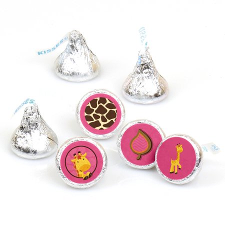 Giraffe Girl - 108 Round Candy Labels Party Favors - Fits Hershey's Kisses](Giraffe Party Favors)