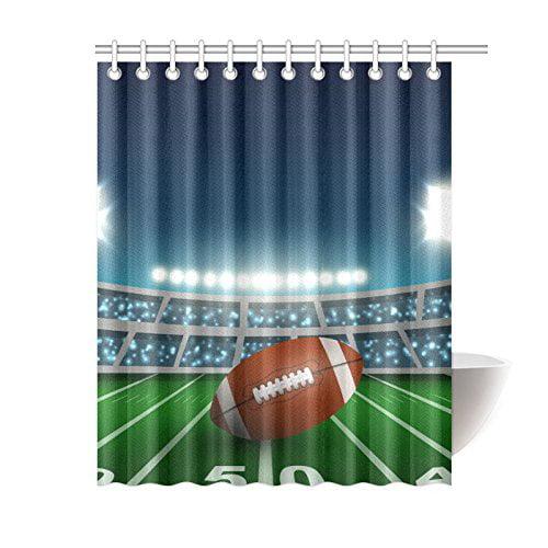 GCKG Sports Stadium Shower Curtain American Football Polyester Fabric Bathroom Sets 60x72 Inches
