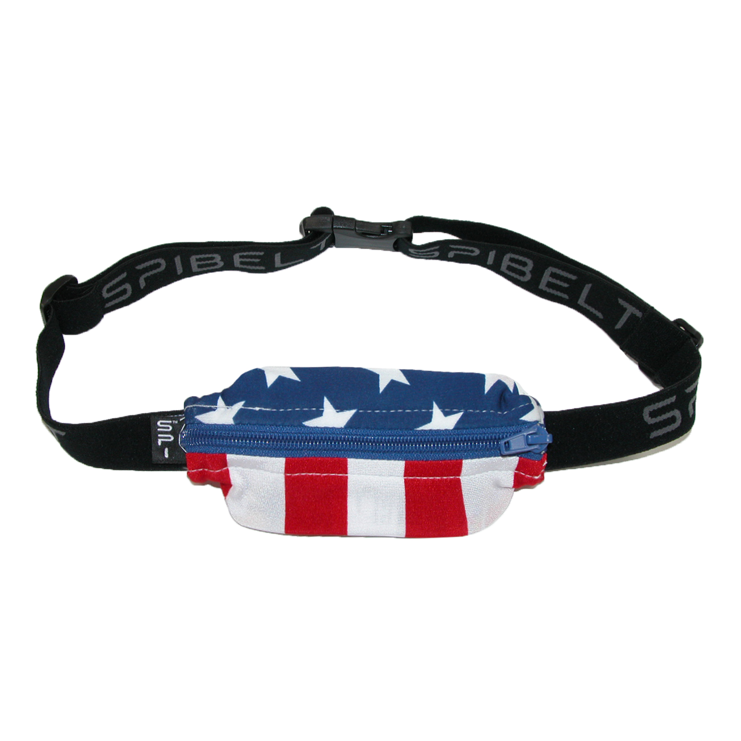 SPIbelt Size 2XL Spandex Plus Size Waist Pack with Extender, American Flag