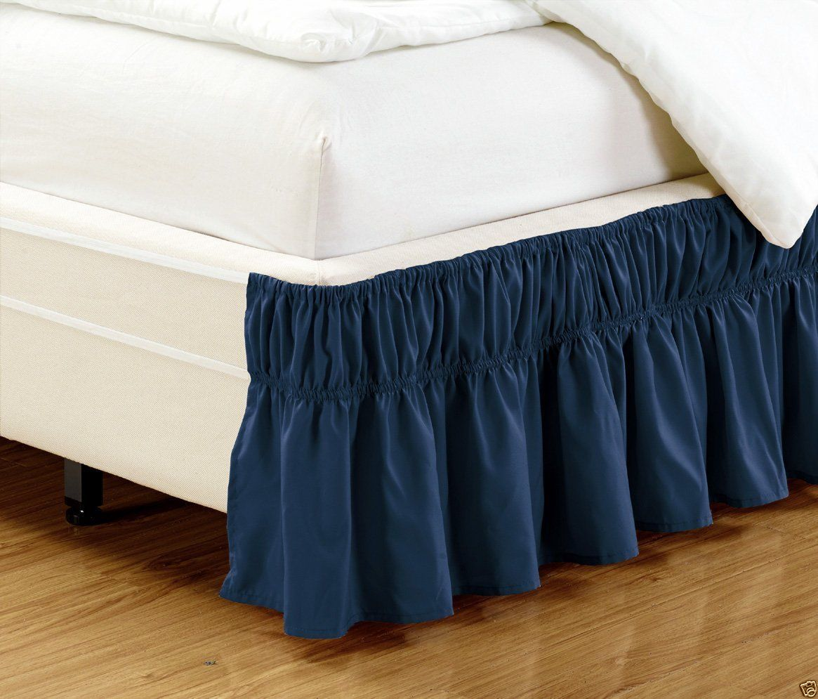 Today/'s Home Cotton Blend Bed Skirt Dust Ruffle Classic Tailored Styling 14 Drop Twin Black