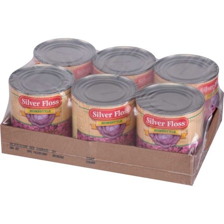 6 PACKS : Silver Floss Sweet and Sour Cabbage -- No. 10 Can. Sweet And Sour Cabbage
