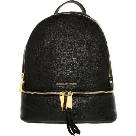 3b08d8f7c1 Michael Kors - Women s Small Rhea Leather Backpack - Black - Walmart.com