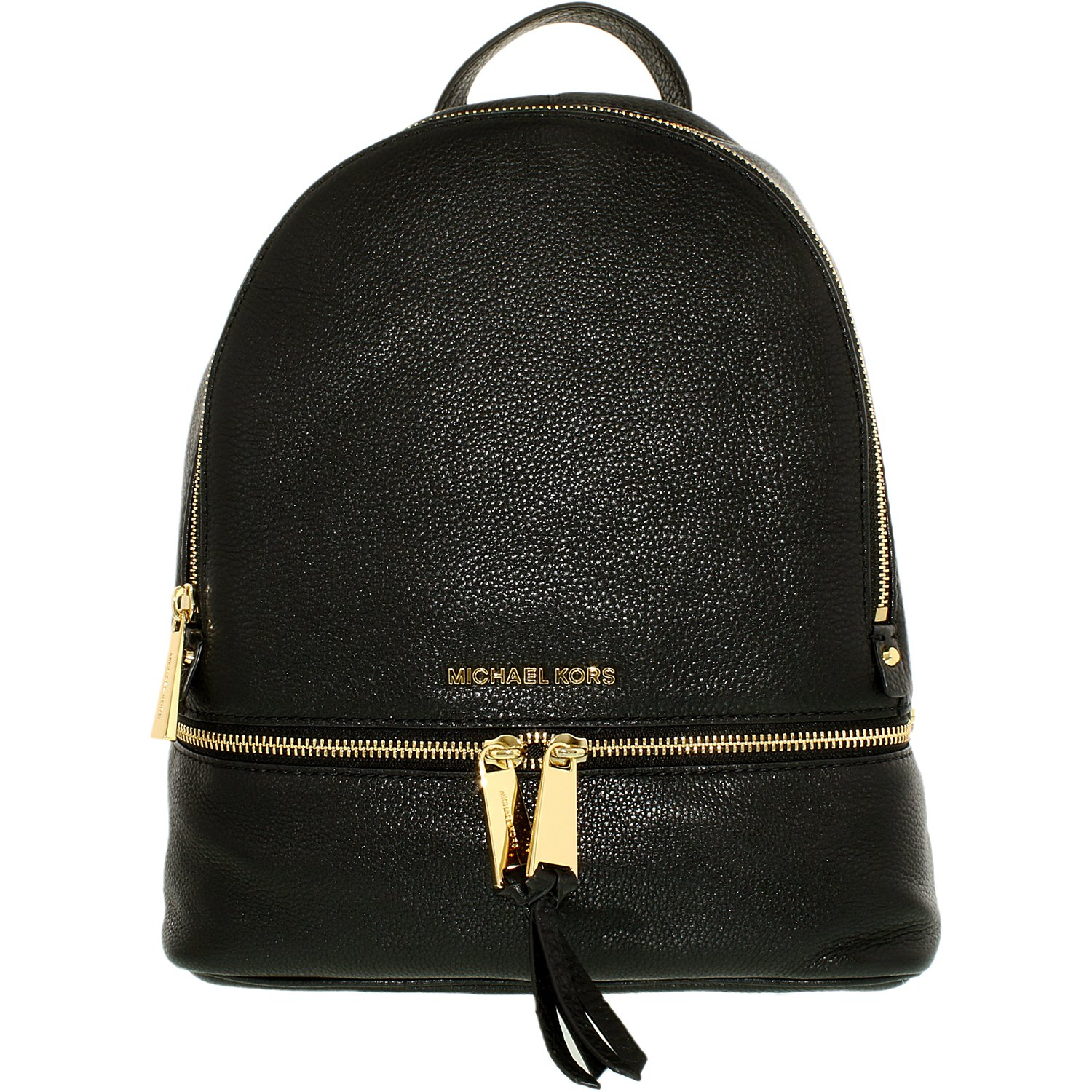 Michael Kors Women's Small Rhea Leather Backpack - Black