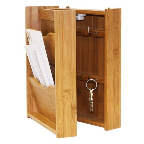 Letter Rack with Key Box, Bamboo, Chest Toothpick Waterpr...