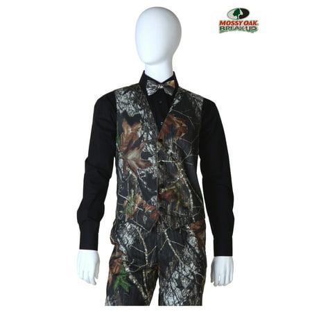 Mossy Oak Camo Tuxedo Vest - Camo Tux