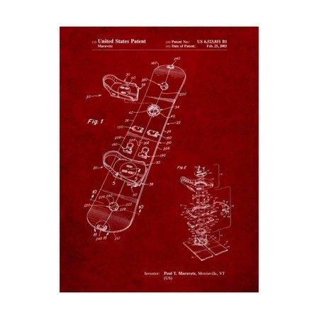 Burton Touring Snowboard Patent Print Wall Art By Cole Borders Burton Womens Profile Snowboard Mitt