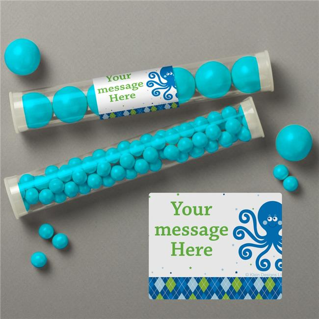 Costume Supercenter BB020245TUBE Preppy Blue Ocean Party Personalized Candy Tubes