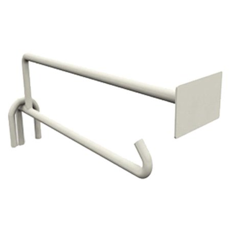 Lozier Store Fixtures HMA1441 WHT 10 in. Hook Divider With A Bin Tag Holder - White - Pack Of 10 ()