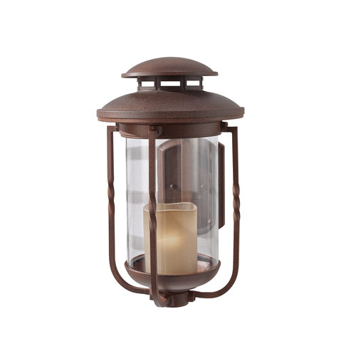Murray Feiss Lighting Menlo Park - One Light Outdoor Large Wall Lantern, Cinnamon Finish with Champagne Scavo Glass