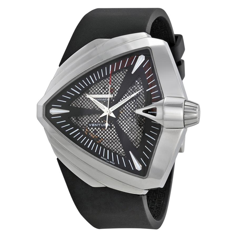 Hamilton Ventura XL Automatic Black Dial Mens Watch H24655331 by Hamilton