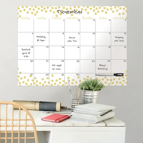 Rebrilliant Confetti Dots Monthly Calendar and Organizer Decals