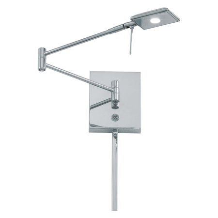 George Kovacs 1-Light LED Swing Arm Wall Lamp - 13.75W in. Chrome