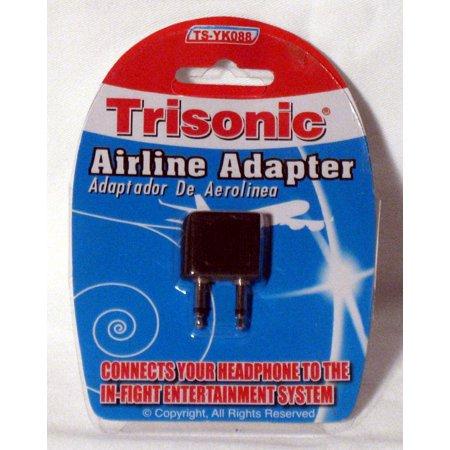 airplane headphones jack adapter plug airline adaptor earphone ear audio travel