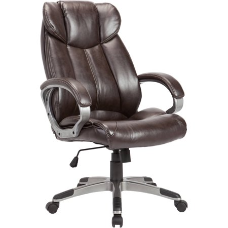 Image of AC Pacific Adjustable Swivel Office Chair Powder Coated, Brown