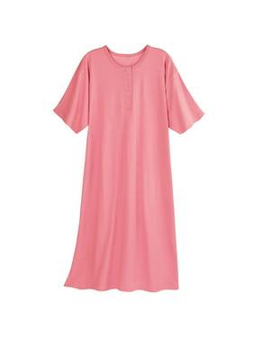 78f4dad2f6c Product Image Catalog Classics Women's Long Henley Nightshirt - Pajama Sleep  Shirt. Product Variants Selector. Blue