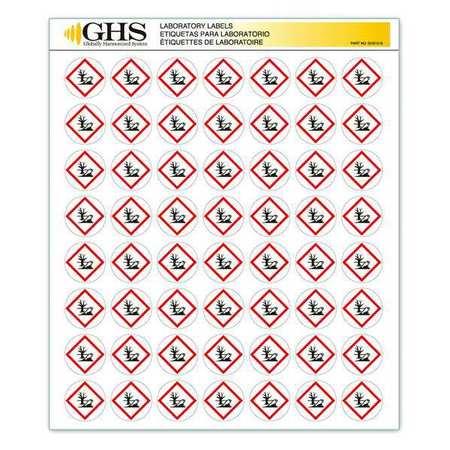 "Label, Ghs Safety, GHS1216, 1"" Dia. CircleHx1"" Dia. CircleW"