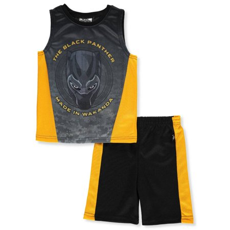 Marvel Black Panther Boys' 2-Piece Shorts Set Outfit