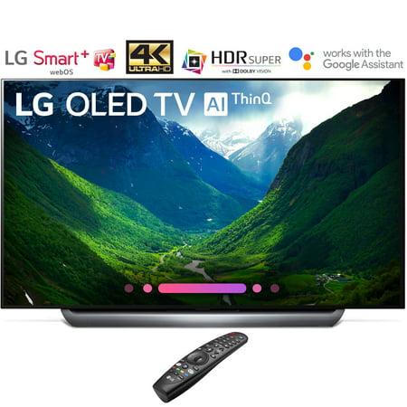 """LG OLED65C8PUA 65""""-Class C8 OLED 4K HDR AI Smart TV (2018 Model) (Certified Refurbished)"""