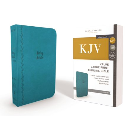 KJV, Thinline Bible, Large Print, Imitation Leather, Red Letter Edition (Other)(Large