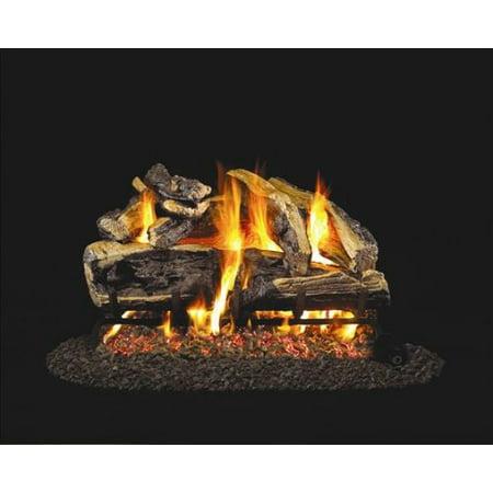 Standard Charred Rugged Split Oak Gas Logs 24 Inch