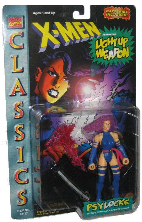 Marvel Comics X-Men Classic Light Up Weapon Psylocke (1997) Vintage ToyBiz Figure by ToyBiz