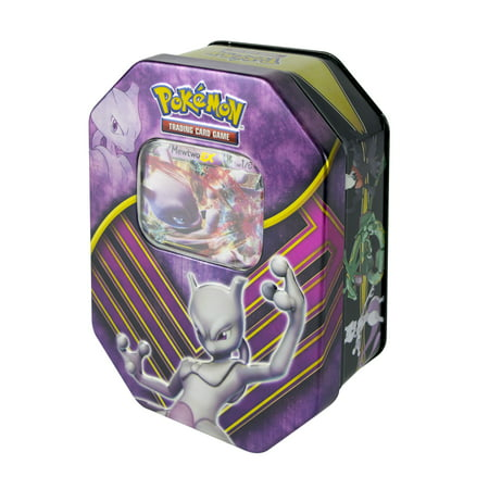Pokemon TCG: Assorted Battle Origins Tin- Mewtwo- EX, Raquaza EX, or Darkrai EX- Receive 1 of 3 characters