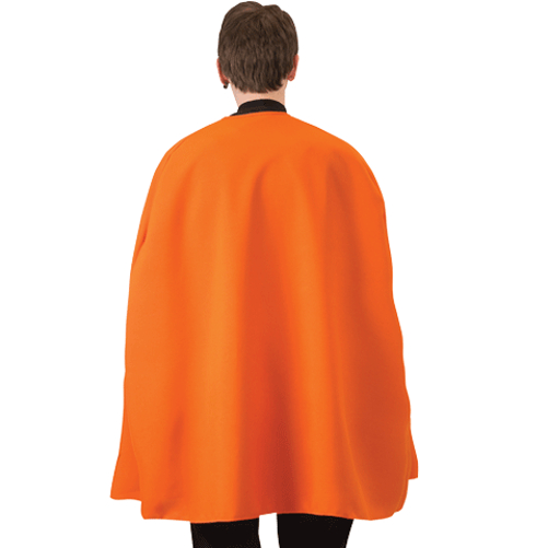 "Orange Superhero Cape 36"" Adult Super Hero Costume Halloween Caped - image 1 of 1"