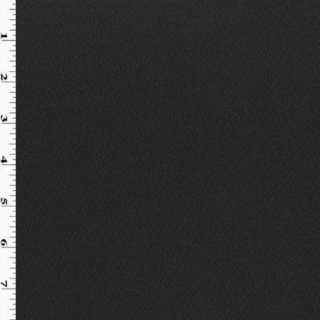 Slate Black Wool Crepe Texture Suiting, Fabric By the Yard (Crepe Wool Beard)