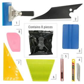 8 PCS Car Window Tint Wrapping Vinyl Tools Squeegee Scraper Applicator Kits
