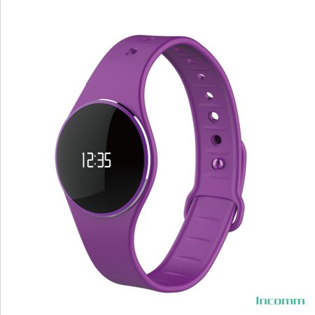 Incomm L16 Smart Wristfit Sport Bracelet Fitness Activity Pedometer Sleep Monitor Call Reminder Full Touch Smartwatch Wristband IP67 Waterproof BT 4.0 Ultra-thin for iOS Android APP (Best Call Forwarding App Android)