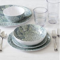 Deals on Better Homes & Gardens 12-Piece Melamine Dinnerware Set