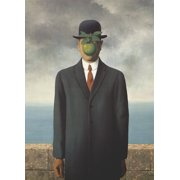"""RENE MAGRITTE Son of Man (No border) 27.5"""" x 19.75"""" Poster 2014 Surrealism Gray"""