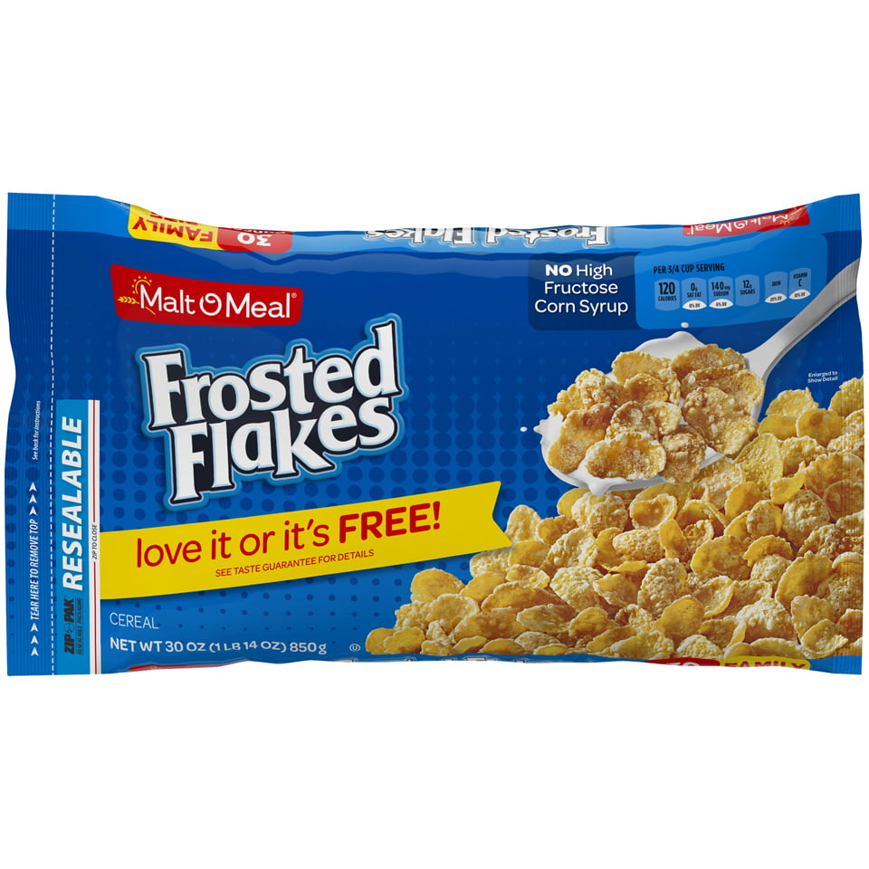 Malt-O-Meal Frosted Flakes Breakfast Cereal 30 Oz. Bag