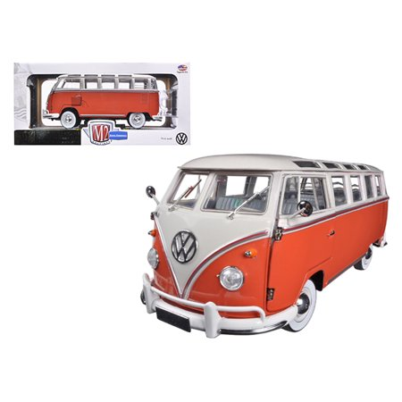 M2 Rod - 1960 Volkswagen Microbus Deluxe USA Model Red 1/24 Diecast Model by M2 Machines