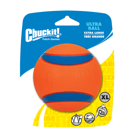 Chuckit! Ultra Dog Ball Bounces and Floats Bright Orange and