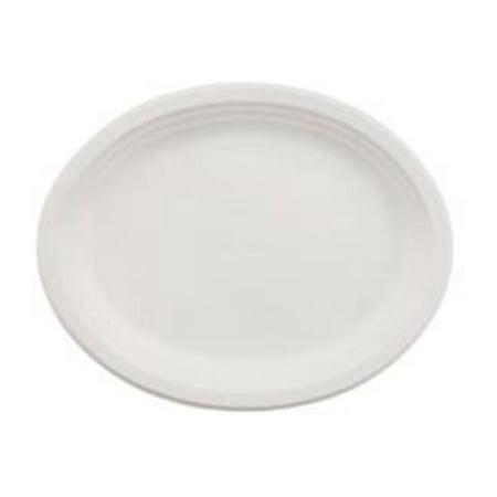 Huhtamaki HUH VESPER Oval Paper Platter 12 in. x 9 in. - 500-Case - image 1 of 1