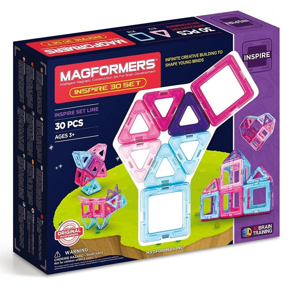 Magformers 14 Pieces Set Educational Shapes 3D Brain Development Magnetic Buildi Baby Gyms & Play Mats