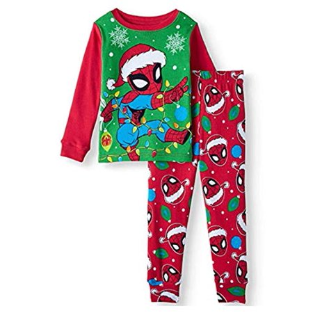 Spider Man Little Boys Toddler Christmas Holiday Pajama Set - Christmas Pajamas Toddlers