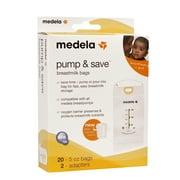 Medela Pump and Save Breast Milk Storage Bags, 20 ct