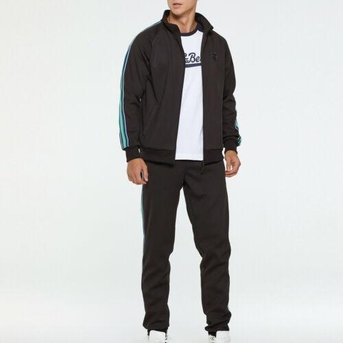 Men/'s Tracksuit Fleece Casual Sportwear Jogging Bottoms Sport Suit Jacket Pants