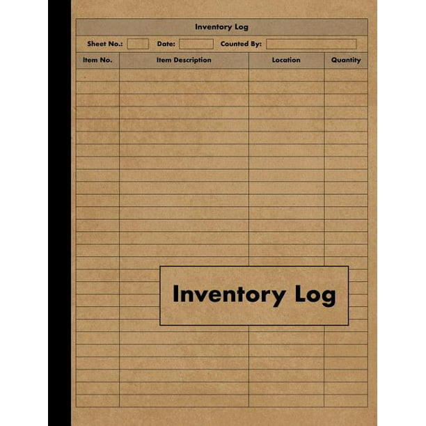 Inventory Log: Large Inventory Log Book - 120 Pages for ...