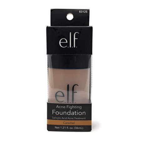 e.l.f. Acne Fighting Foundation, Caramel, 1 Fluid