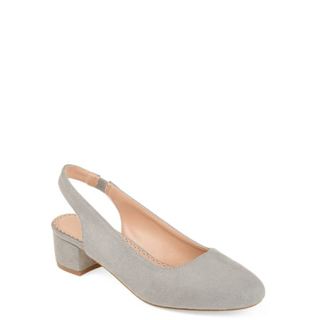 Metallic Slingback Pumps (Brinley Co. Women's Slingback Pump)