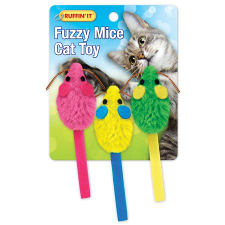 Fuzzy Mice Cat Toys