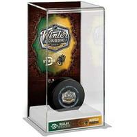 2020 NHL Winter Classic Nashville Predators vs. Dallas Stars Deluxe Tall Hockey Puck Display Case - Fanatics Authentic Certified