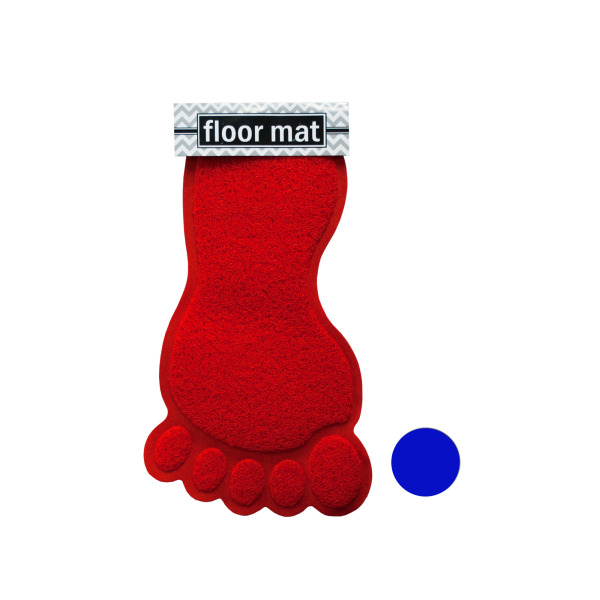 Foot Shaped Absorbent Non-Slip Bath Mat (Pack Of 4)