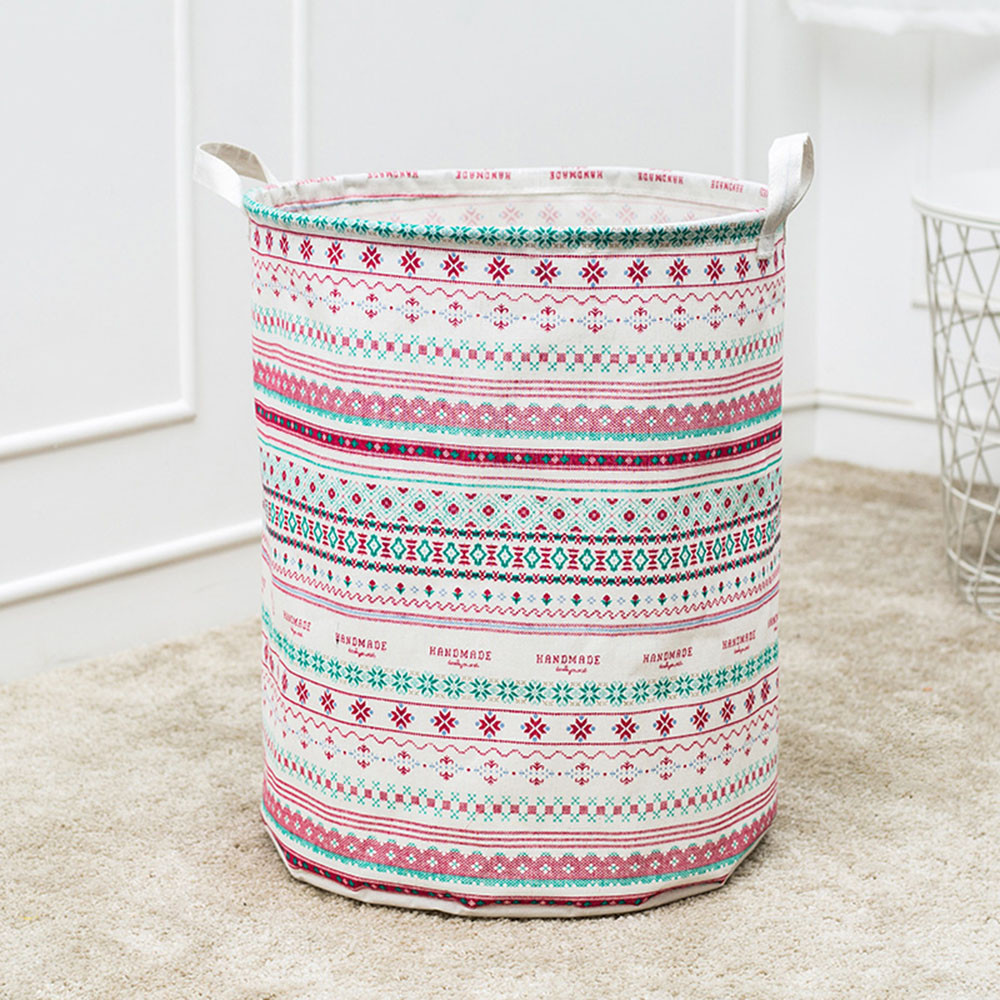 New Canvas Laundry Clothes Basket 1pc